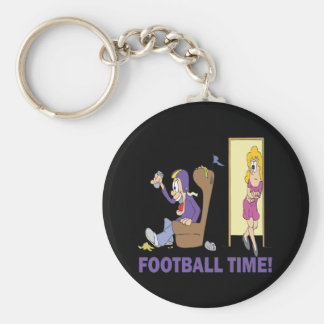 Football Time Basic Round Button Key Ring