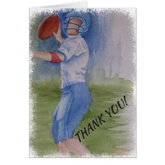 FOOTBALL TOUCHDOWN PASS THANK YOU CARD
