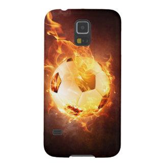 Football under Fire, Ball, Soccer Case For Galaxy S5