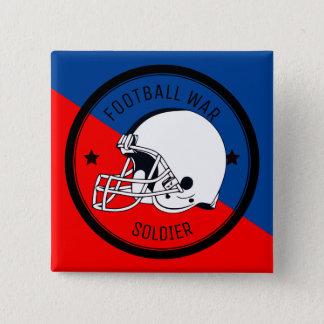Football Warrior 15 Cm Square Badge