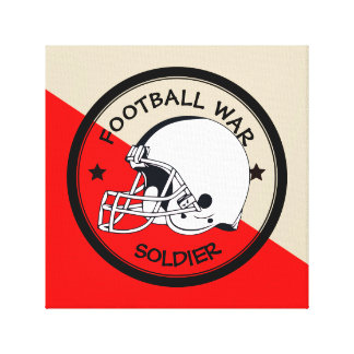 Football Warrior Canvas Print
