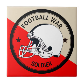 Football Warrior Ceramic Tile