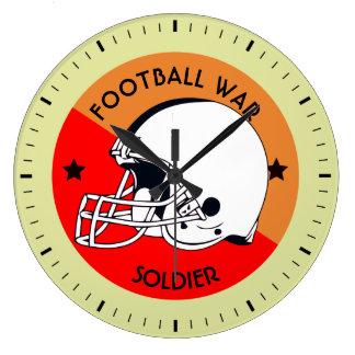 Football Warrior Large Clock