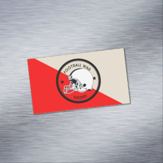 Football Warrior Magnetic Business Card