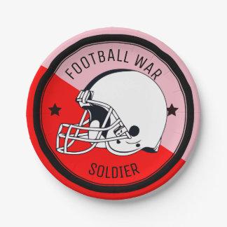 Football Warrior Paper Plate