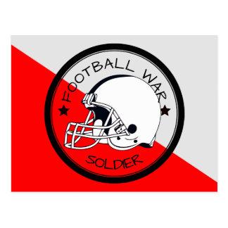 Football Warrior Postcard
