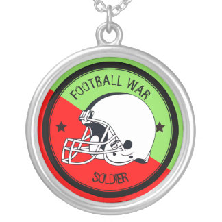 Football Warrior Silver Plated Necklace