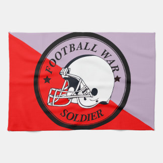 Football Warrior Tea Towel