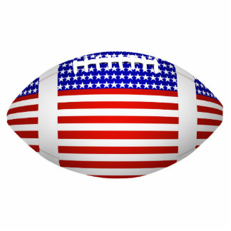 Football With American Flag Design (1) Photo Sculpture
