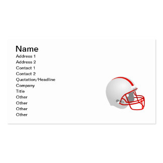 FootballHelmet_Vector_Clipart sports logo icon Pack Of Standard Business Cards
