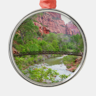 Footbridge across the Virgin River Metal Ornament