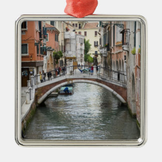 Footbridge in Venice Silver-Colored Square Decoration
