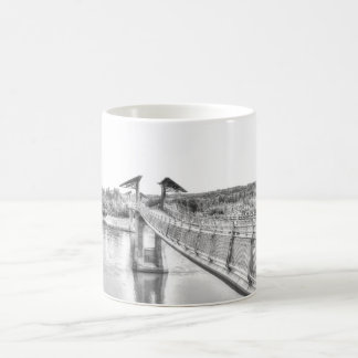 Footbridge over the North Saskatchewan River. Coffee Mug