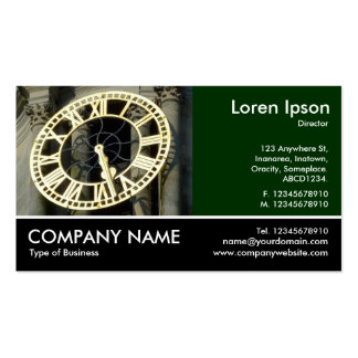 Footed Photo - Dk Green - City Hall Clock Cardiff Pack Of Standard Business Cards