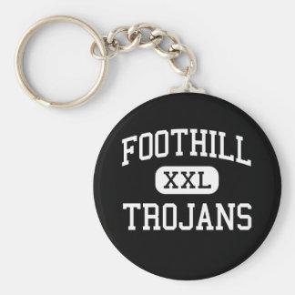 Foothill - Trojans - High - Bakersfield California Key Ring