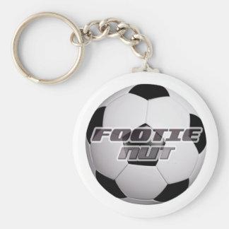 Footie Nut Basic Round Button Key Ring