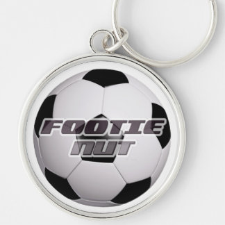 Footie Nut Silver-Colored Round Key Ring