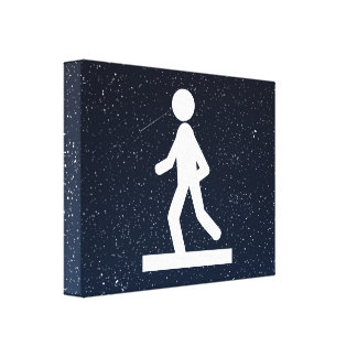 Footing Fades Pictogram Stretched Canvas Prints