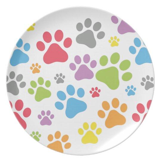 Footprint Dog Plate