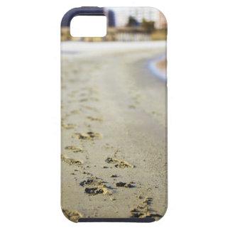 Footprint in coast. iPhone 5 covers