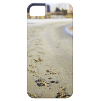 Footprint in coast. iPhone 5 cover