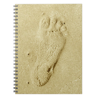 Footprint In The Sand Notebook