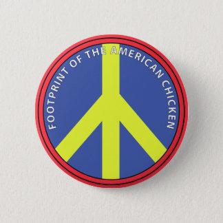 Footprint Of The American Chicken 6 Cm Round Badge