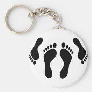 footprints bed couple basic round button key ring