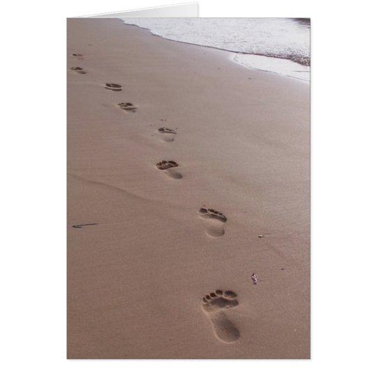 Footprints Blank Greeting Card