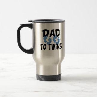 Footprints Dad to Twins Mug