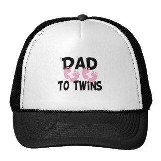 Footprints Dad to Twins (twin girls) Cap