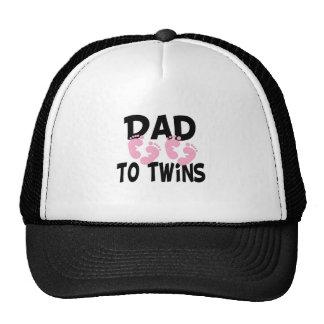 Footprints Dad to Twins (twin girls) Trucker Hats