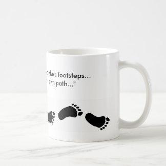 "Footprints, ""Don't follow someone else's footst... Basic White Mug"