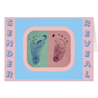 Footprints Gender Reveal Invitation