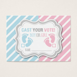 Footprints Gender Reveal Voting Card