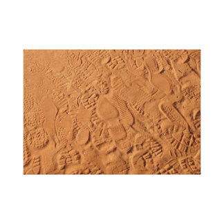 Footprints in Sand Canvas Print