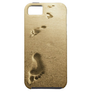 Footprints in sand cellphone case tough iPhone 5 case