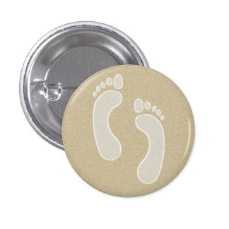 Footprints in the Sand 3 Cm Round Badge