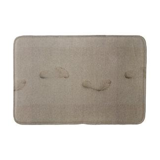 Footprints in the sand bath mat