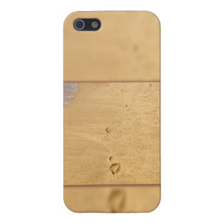 Footprints in the sand collage iPhone 5 cover