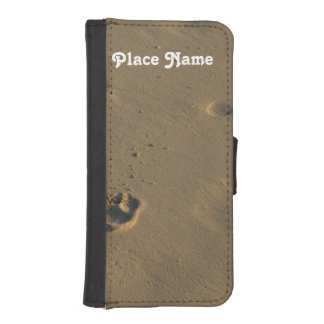 Footprints in the Sand iPhone 5 Wallet Cases