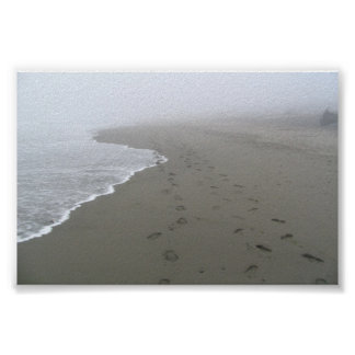 Footprints in the sand Poster