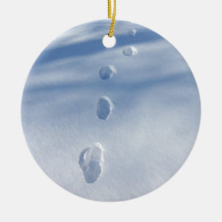 Footprints in the Snow Ornament
