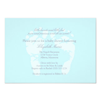 Footprints Invitation or Announcement