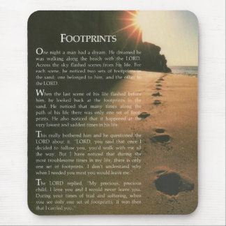 Footprints Mouse Pad