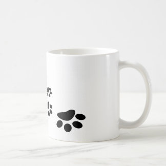Footprints of dog coffee mug
