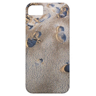 Footprints on beach in sand iPhone 5 cover