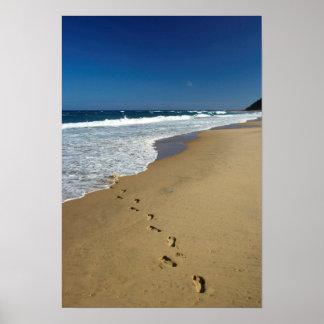 Footprints On Beach, Mabibi, Thongaland Poster