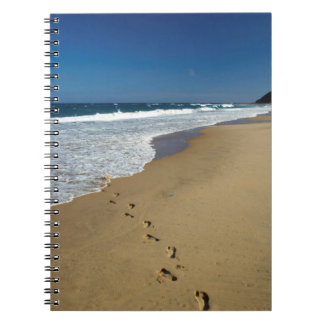 Footprints On Beach, Mabibi, Thongaland Spiral Notebook