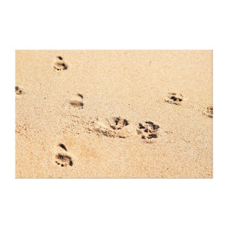 FOOTPRINTS ON BEACH QUEENSLAND AUSTRALIA CANVAS PRINT